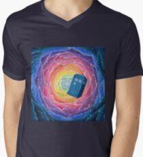 Kaleidoscope TARDIS Men's V-Neck T-Shirt