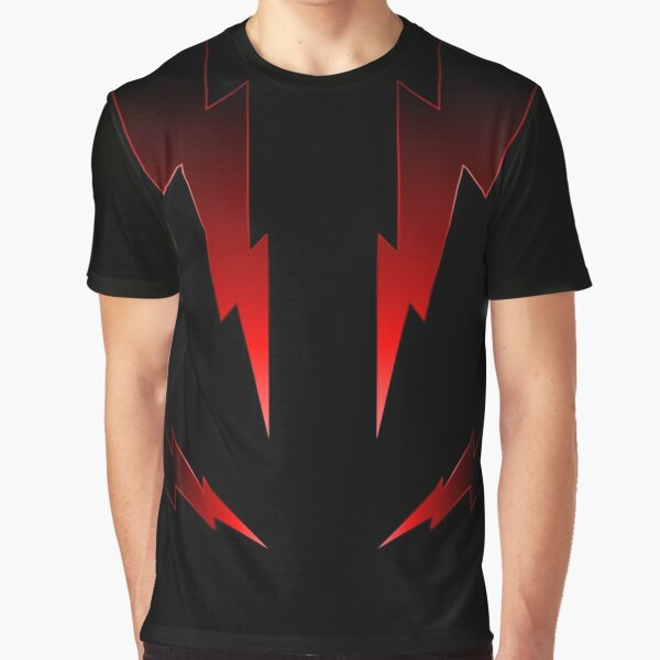 Thunderbolts in Ruby Graphic T-Shirt
