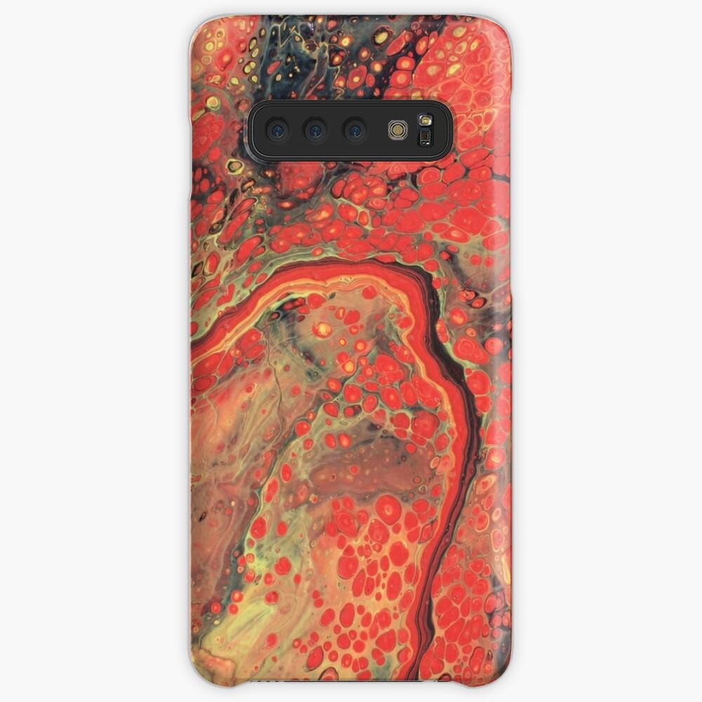 Roter Basalt Hüllen & Klebefolien für Samsung Galaxy