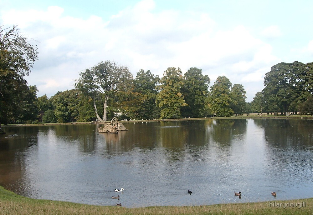The lake at Whitworth by hilarydougill