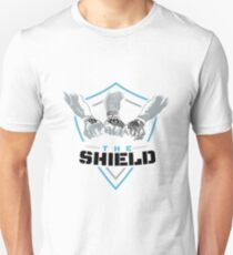 The Shield Blue Logo with black letters T-Shirt