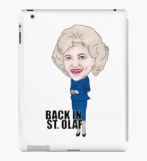 The Golden Girls, Rose Nylund Inspired Illustration. Betty White Back In ST. Olaf iPad Case/Skin