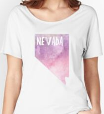 Nevada - Pink&Purple Watercolor  Women's Relaxed Fit T-Shirt