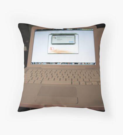 My new MacBook Throw Pillow