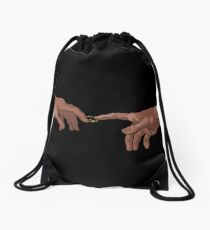 The Creation of Adam Drawstring Bag