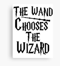 The wand chooses the wizard Canvas Print