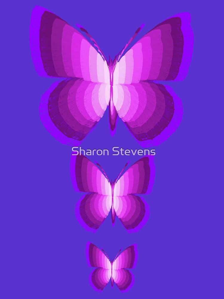 Three Butterflies by Sharon Stevens