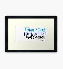 Dear Evan Hansen Framed Print
