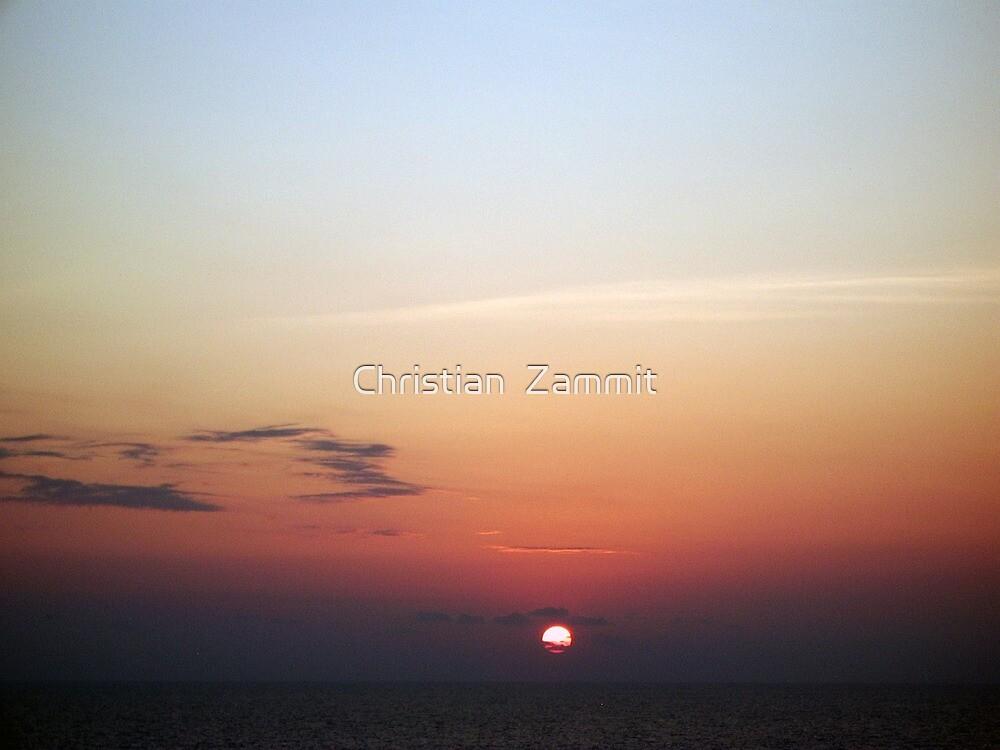 Caribbean Sunset by Christian  Zammit
