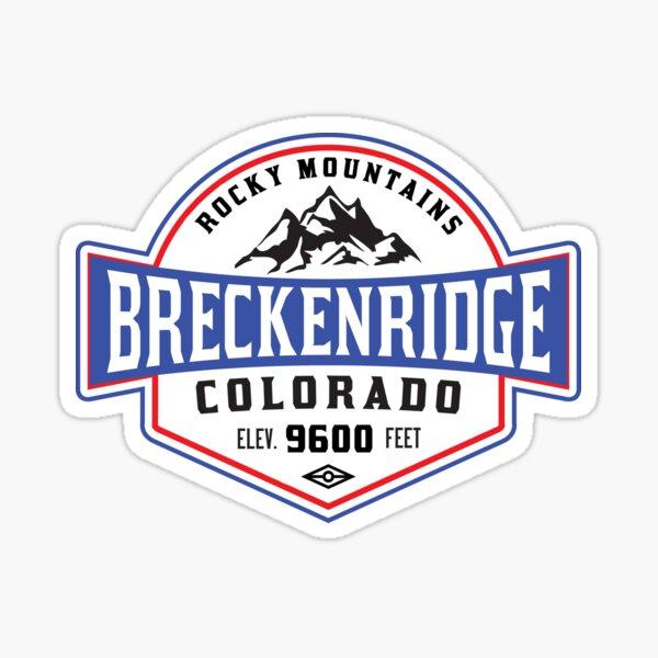 Skiing Breckenridge Colorado Mountain Ski Skier Snowboarding Sticker