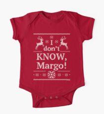 """Weihnachtsferien """"Ich weiß es nicht, Margo!"""" Kurzärmeliger Einteiler"""