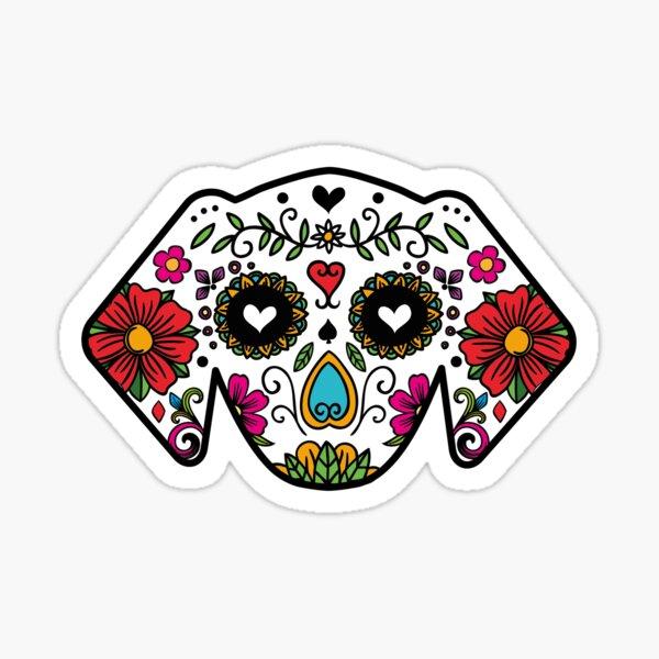 Sugar Skull Dog Sticker