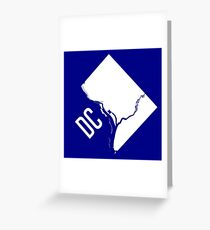 DC Outline Greeting Card
