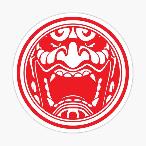Oni Mask Red Sticker