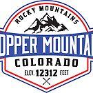 Skiing Copper Mountain Colorado Ski Snowboarding by MyHandmadeSigns