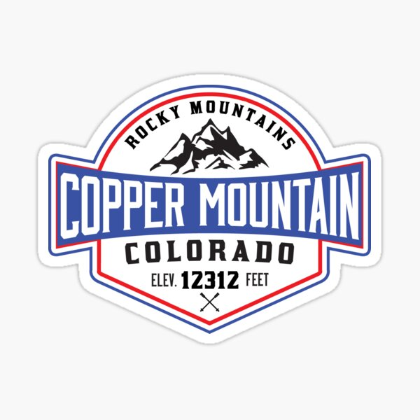 DECAL Made From Image Of Vint Ski Patch Copper MT Ski Resort CO STICKER