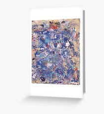 Thinking in Blue..Blue Escapade Greeting Card