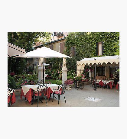 Romantic dinner in Venice Photographic Print