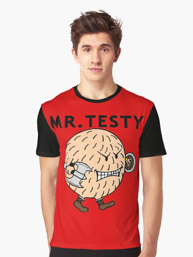 Mr. Testy Graphic T-Shirt Front