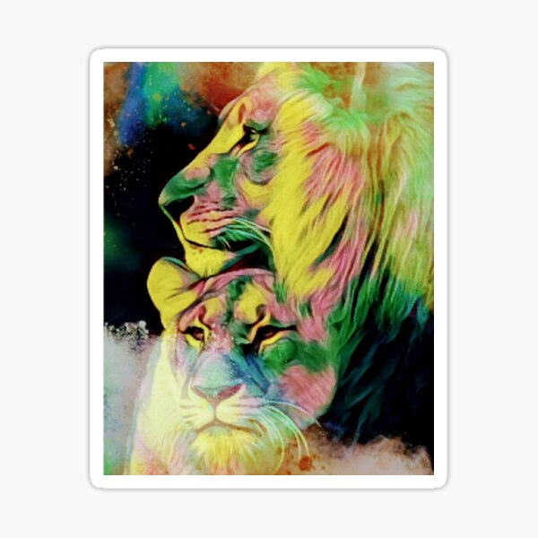 Lion Love Sticker
