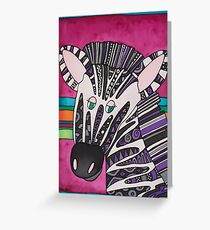 Be as individual as zany Ziggy the Zebra! Greeting Card