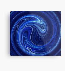 Blue Wave Swirl Metal Print