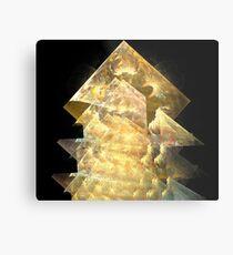 Sun Gold Pyramids Metal Print