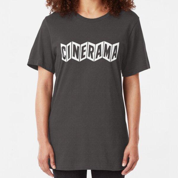 Cinerama (white vintage logo) Slim Fit T-Shirt