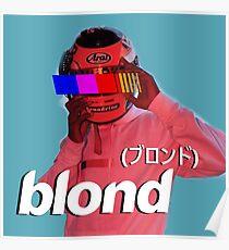 Frank Ocean Blond Helmet Logo Poster
