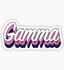 Retro Gamma Sticker