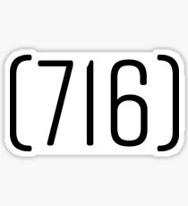 716 Area Code Sticker