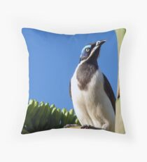 Blue faced Honeyeater Throw Pillow