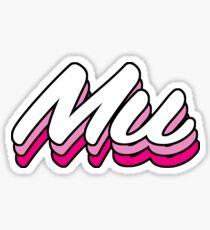 Retro Mu Sticker