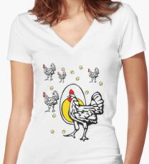 Roseanne Chicken Women's Fitted V-Neck T-Shirt