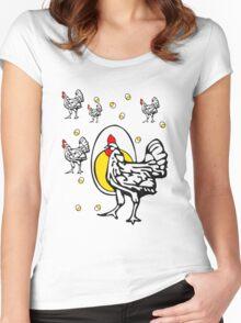 Roseanne Chicken Women's Fitted Scoop T-Shirt