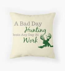 Bad Day Hunting Throw Pillow