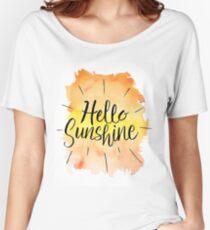 Hello Sunshine - Brush Lettering Women's Relaxed Fit T-Shirt