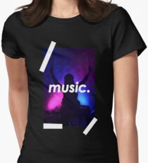 Music. Women's Fitted T-Shirt