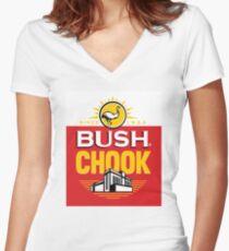 Bush Chook Women's Fitted V-Neck T-Shirt
