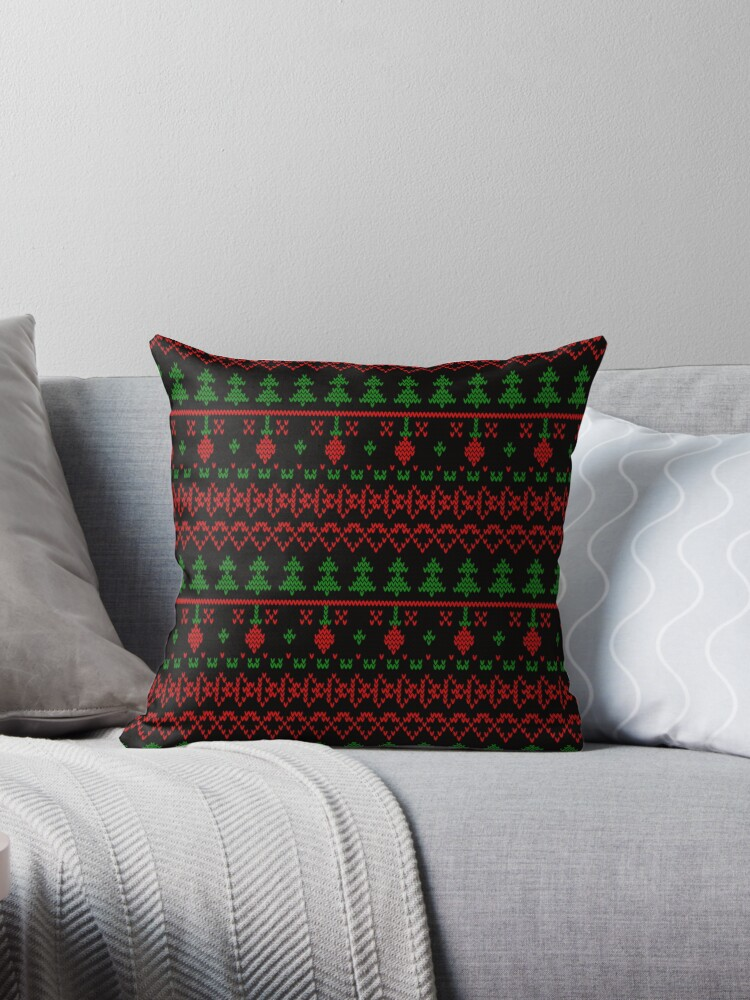 3 Knitted Christmas pattern in retro style pattern by fuzzyfox