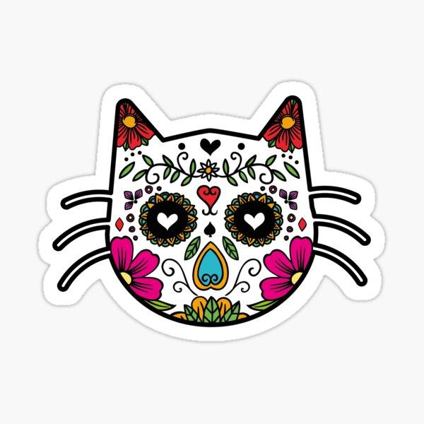 Sugar Skull Cat Sticker