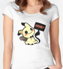 Be Friends with Mi(mikyu)? Women's Fitted Scoop T-Shirt