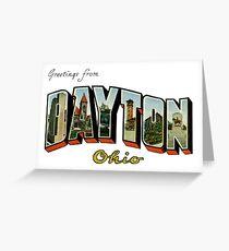 Greetings from Dayton, Ohio Greeting Card