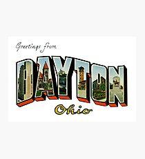 Greetings from Dayton, Ohio Photographic Print