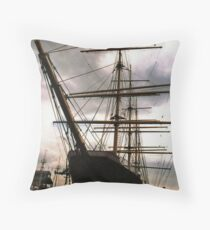 """The Peking"" at South Street Seaport - New York City Throw Pillow"