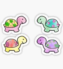 Pegatina Paquete de tortuga lindo
