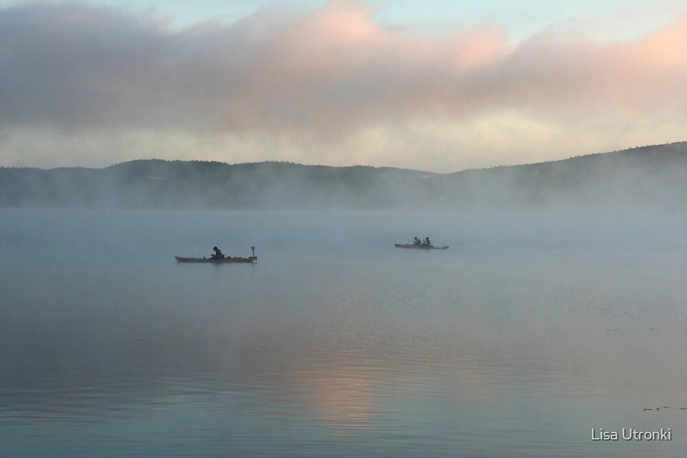 kayak fishing by Lisa Utronki