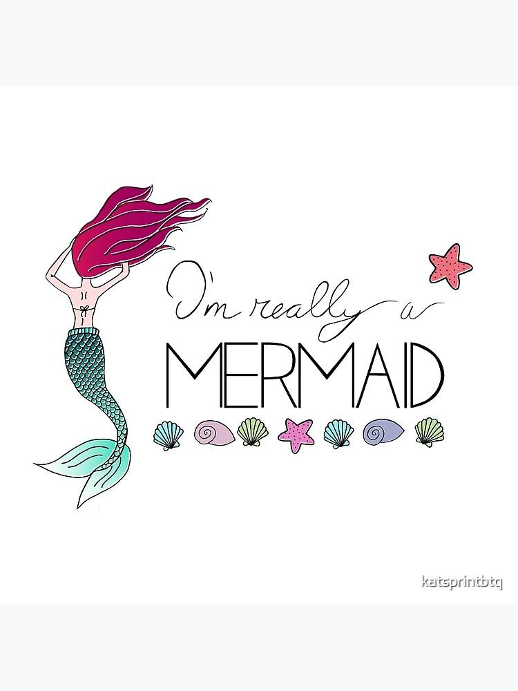 I M Really A Mermaid Tote Bag By Katsprintbtq Redbubble