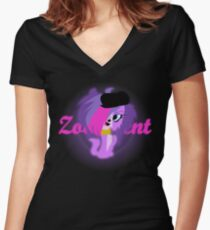 Zoe Trent Glowy Vector Women's Fitted V-Neck T-Shirt