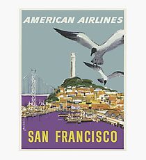 Vintage Travel Poster - San Francisco by American Airlines Photographic Print